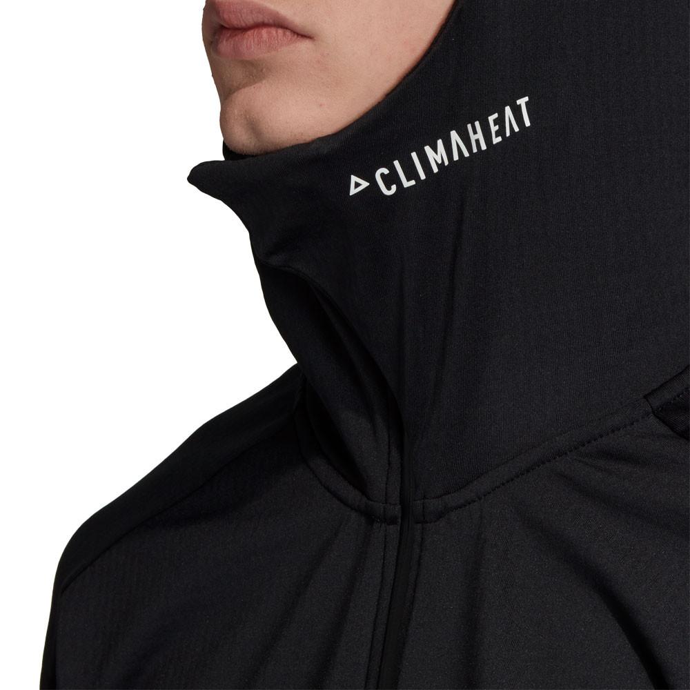 Détails sur adidas Hommes ID Zip Intégral Sweat À Capuche Sweater Sport Top Noir Jogging