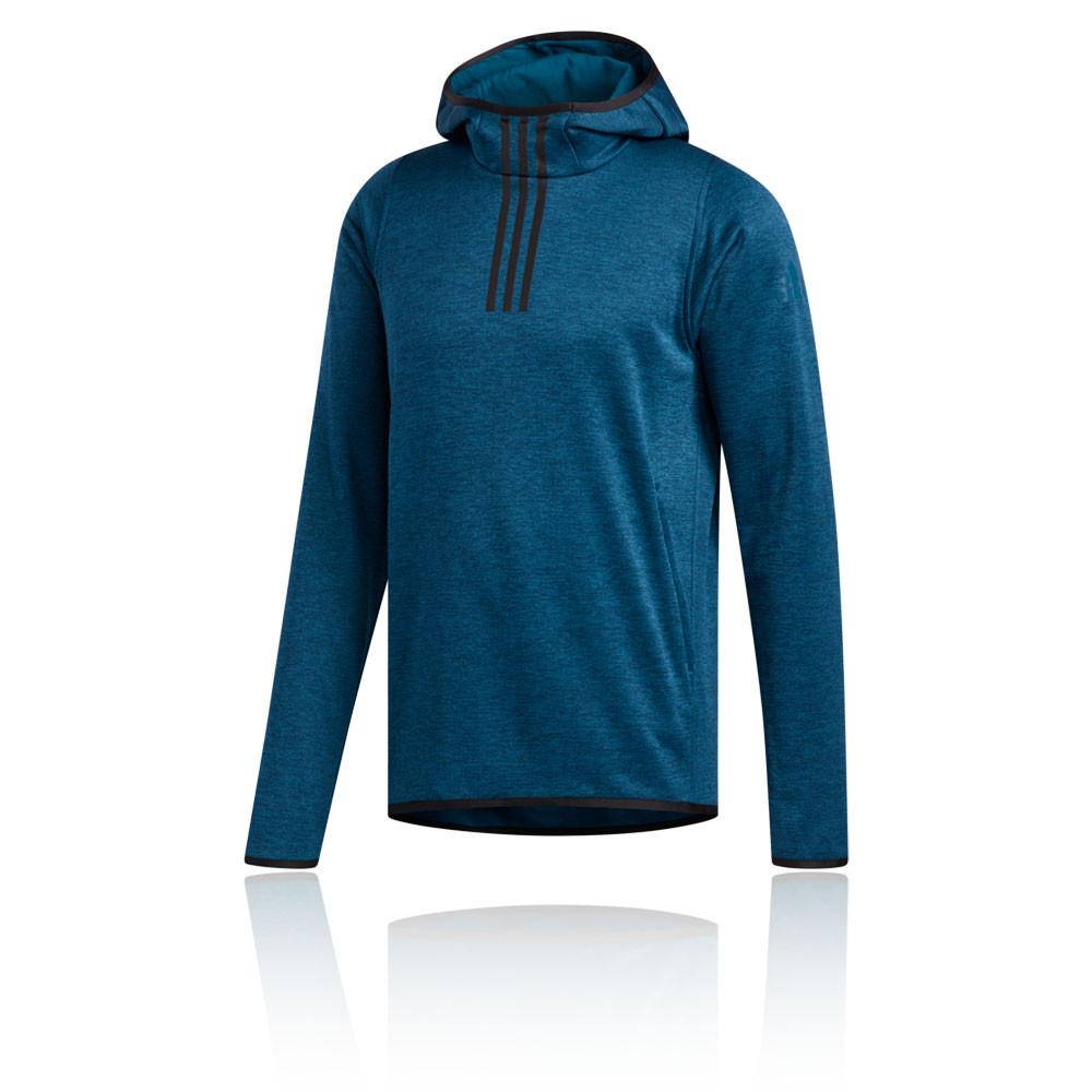 Détails sur adidas Hommes FreeLift 3Rayure ClimaWarm Sweat À Capuche Sweater Sport Top