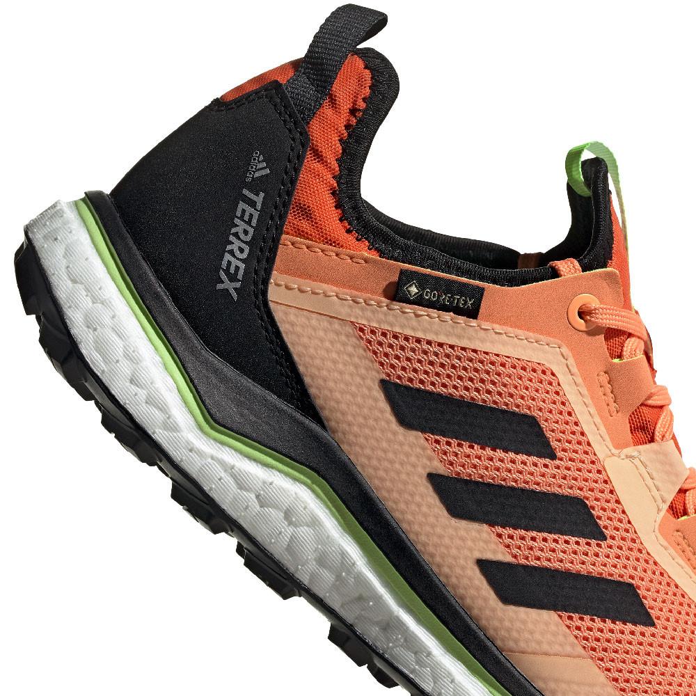 Detalles de adidas Mujer Terrex Agravic Flow GORE TEX Sendero Correr Zapatos Zapatillas