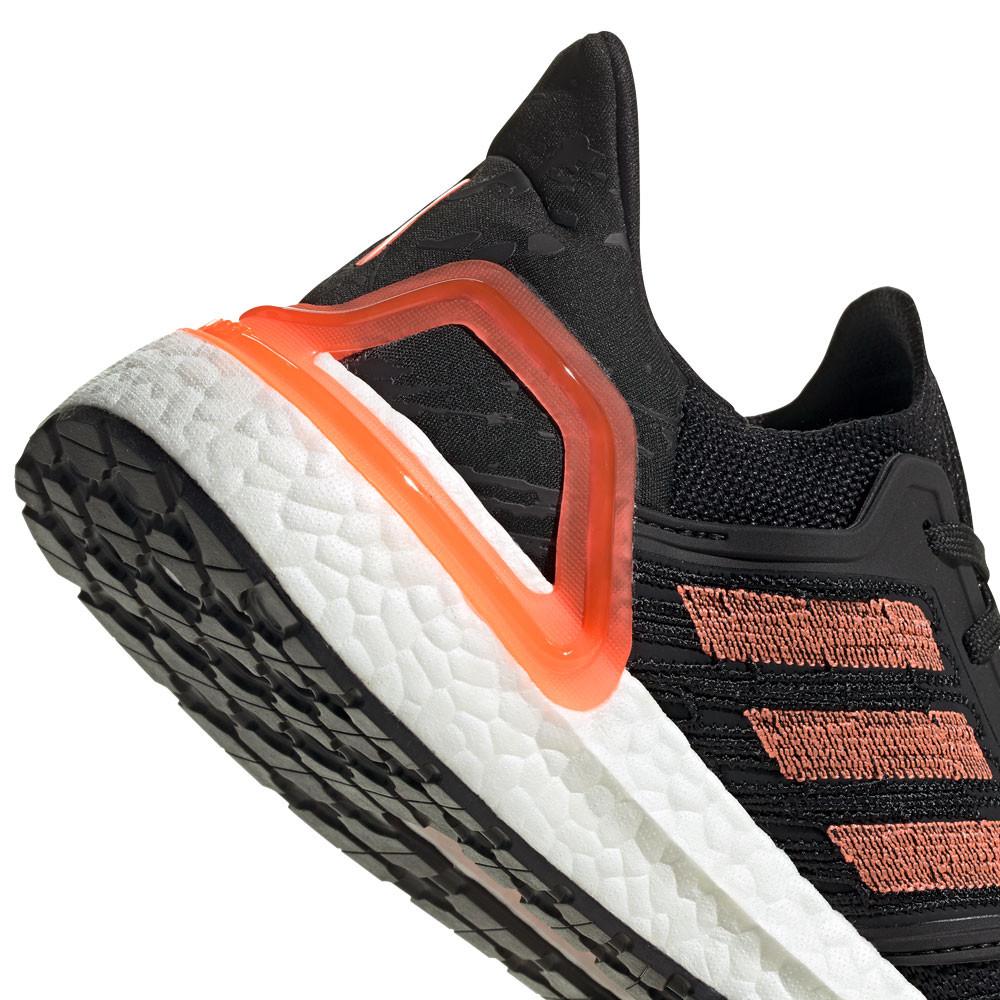 Detalles de adidas Mujer Ultra Boost 20 Correr Zapatos Zapatillas Negro Naranja