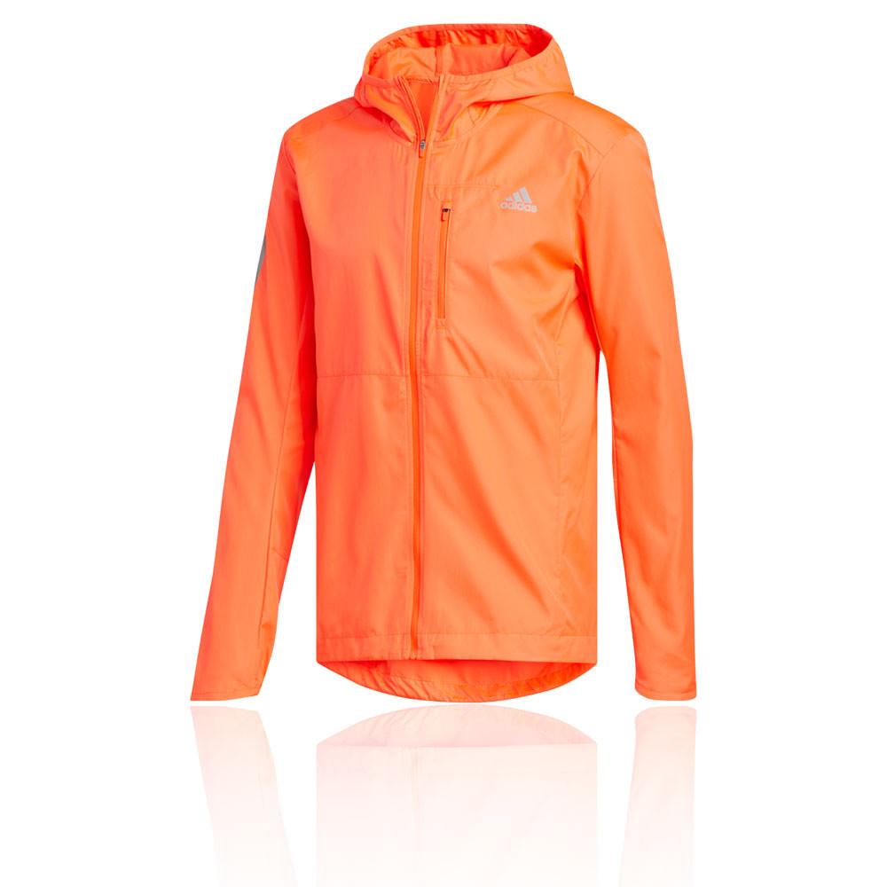 Détails sur adidas Hommes Own The Run Veste De Sport Blouson Top Orange Jogging Respirant