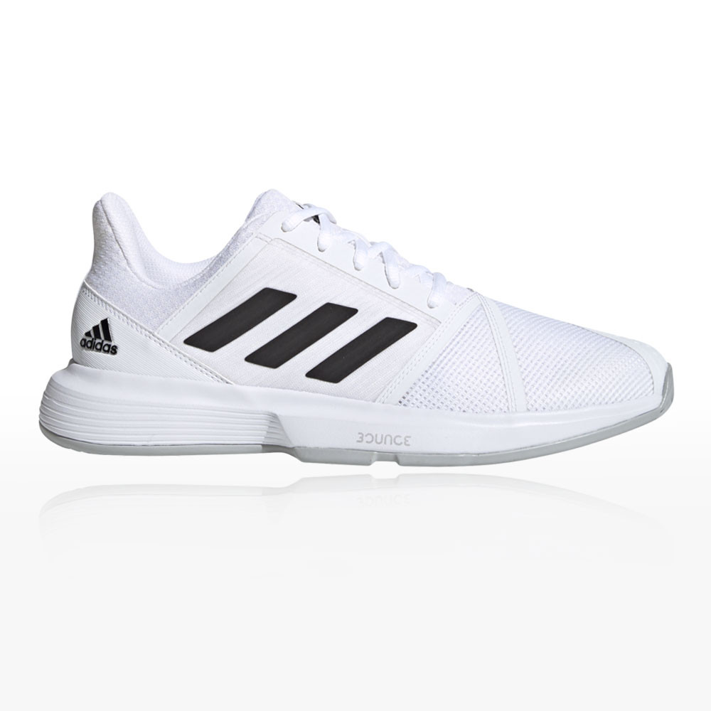 adidas Womens Court Jam Bounce Shoes White Sports Tennis Breathable Lightweight