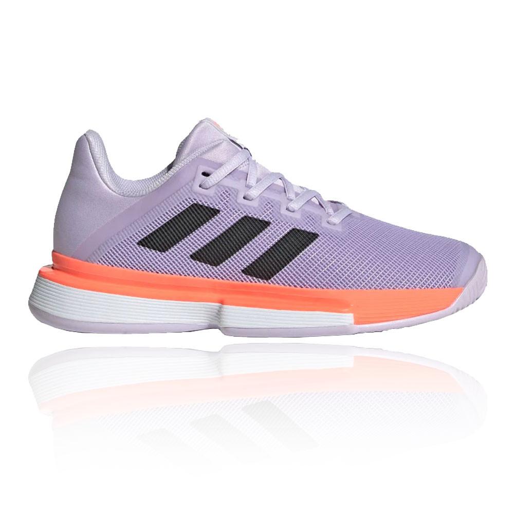 banco tema preferible  adidas Mujer Solematch Bounce Tenis Zapatos - Violeta Deporte Transpirable  | eBay