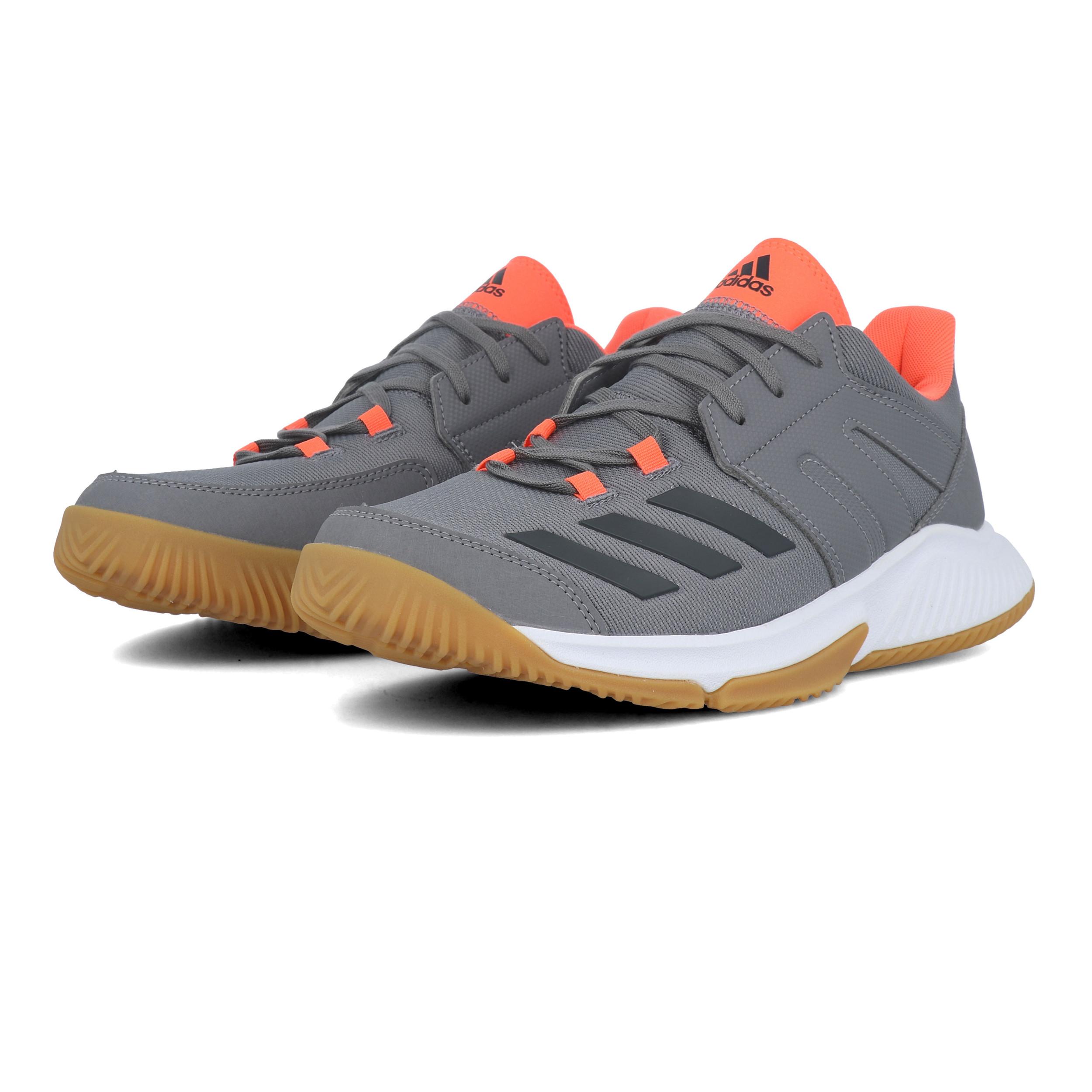 Détails sur Adidas pour homme Essence Intérieur Cour Chaussures Gris Sport Handball Respirant afficher le titre d'origine