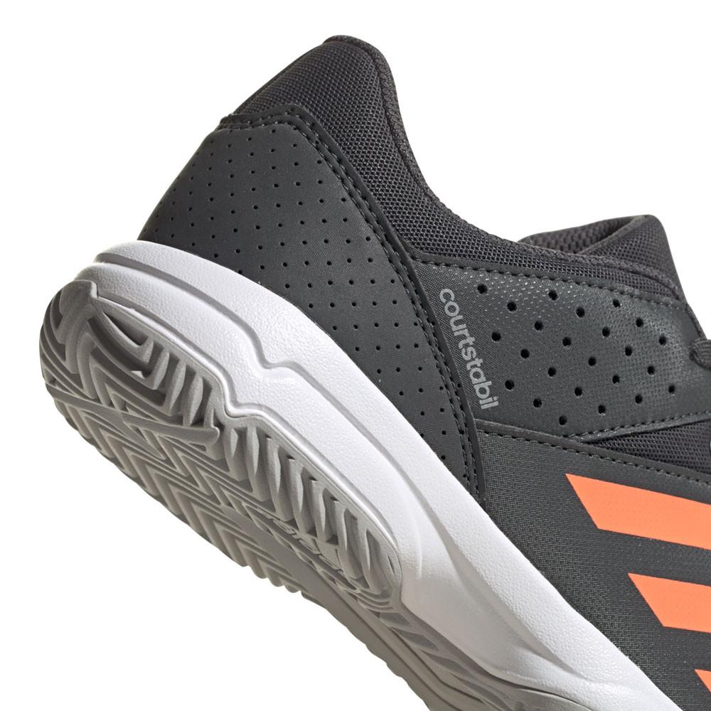 Détails sur adidas Garçons Court Stabil Chaussures De Sport Baskets Gris Handball