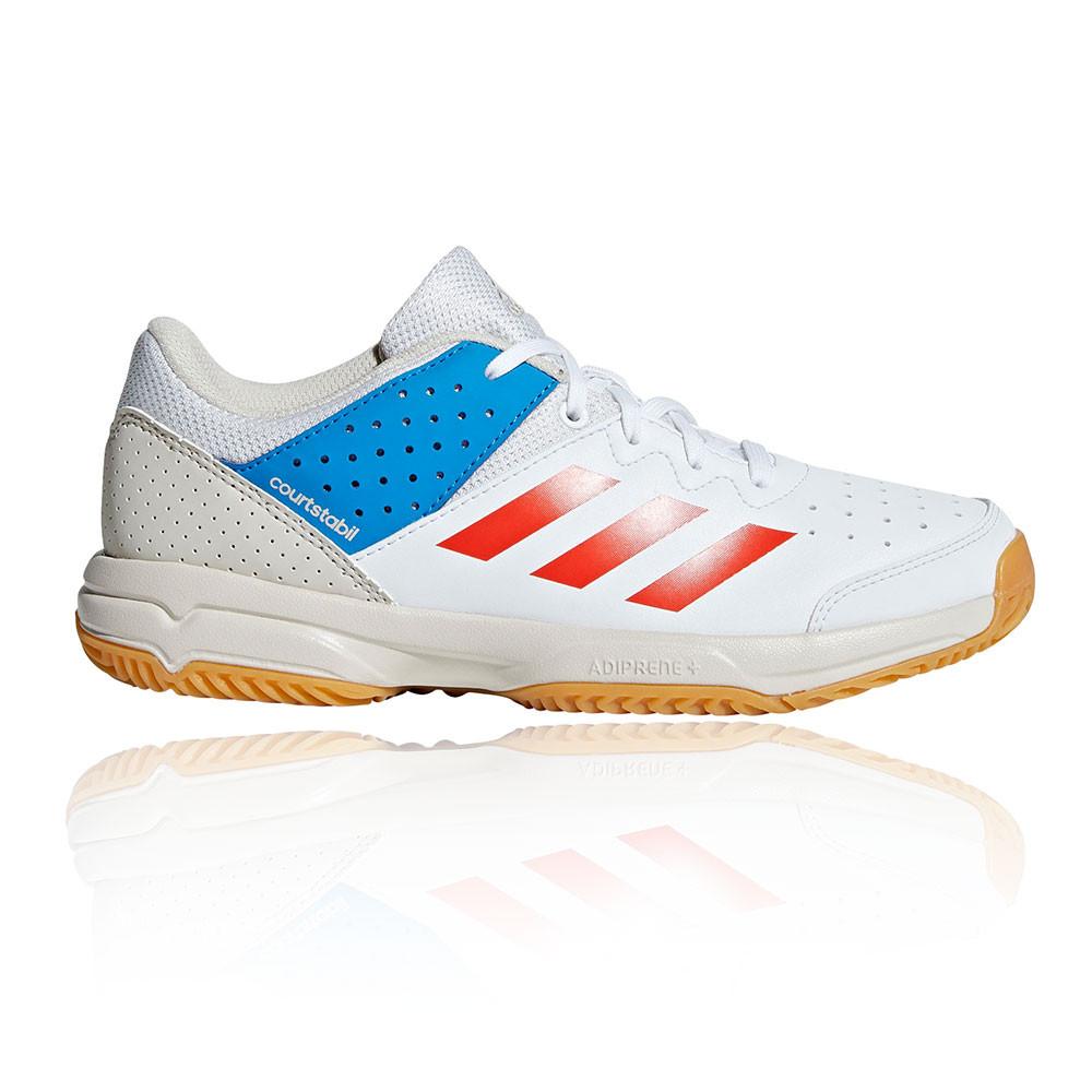 adidas Garçons Court Stabil Chaussures De Sport Baskets Orange Tennis Running