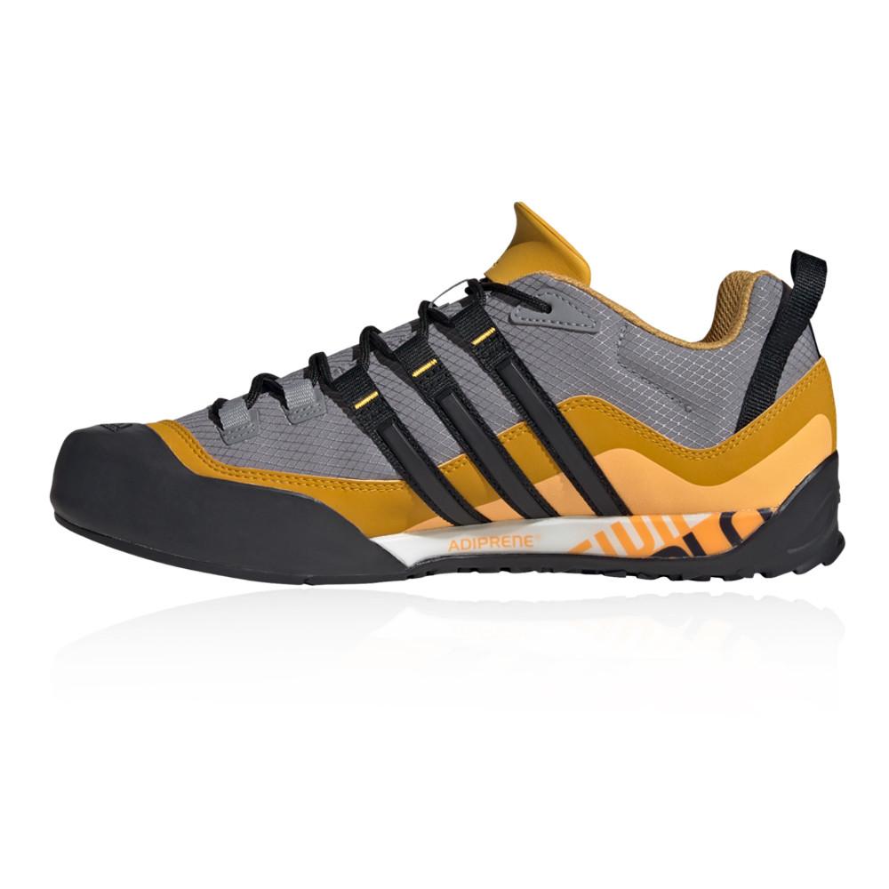 Adidas Mens Terrex Swift Solo Chaussures De Marche Gris Jaune Sports Outdoors