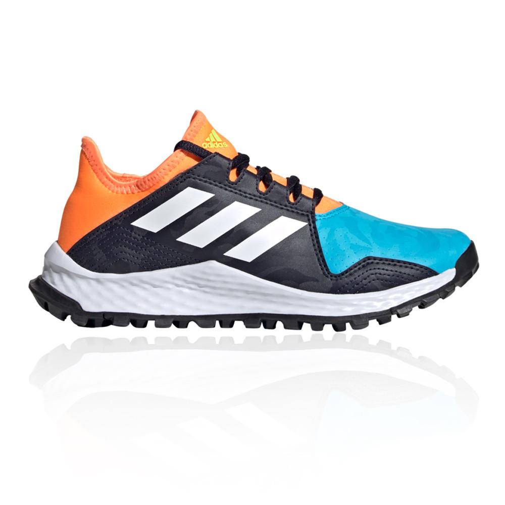 adidas Boys Youngstar Hockey Shoes Pitch Field Black Blue Orange ...