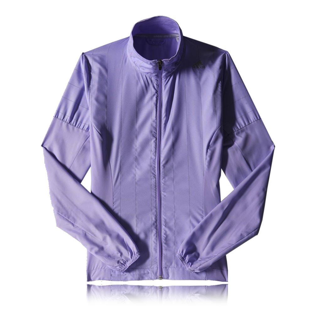 Détails sur Adidas Supernova Storm pour Femme Violet Zip complet à manches longues Gym Running Top afficher le titre d'origine