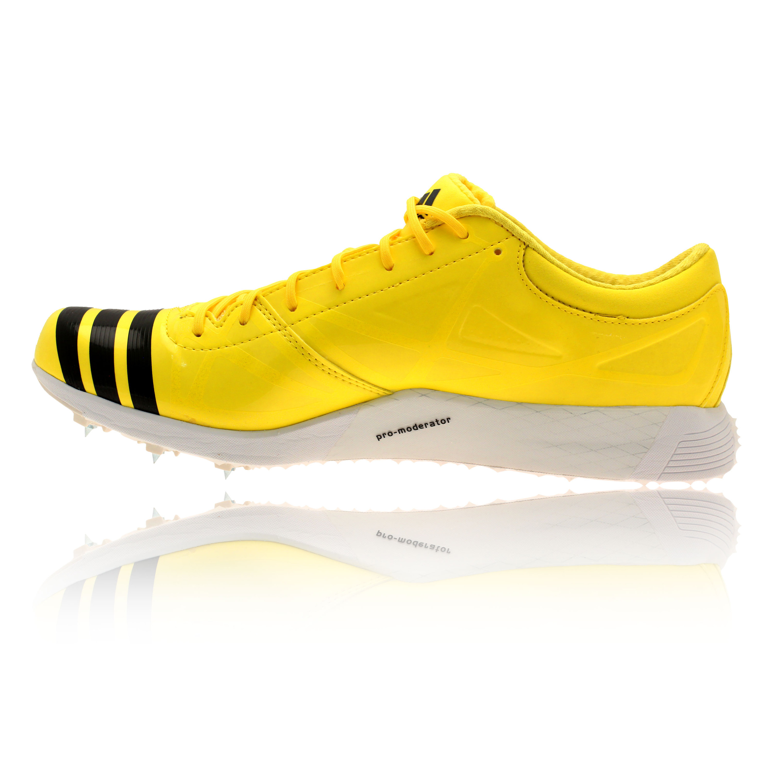 Adidas Adizero Triple Jump Spikes Mens Yellow Trainers Running Sports Shoes