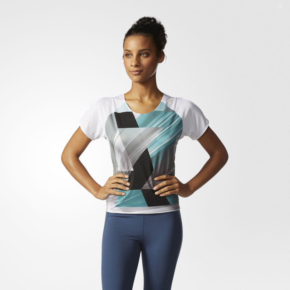 Adidas adizero women 39 s running t shirt ss16 for Women s running shirts