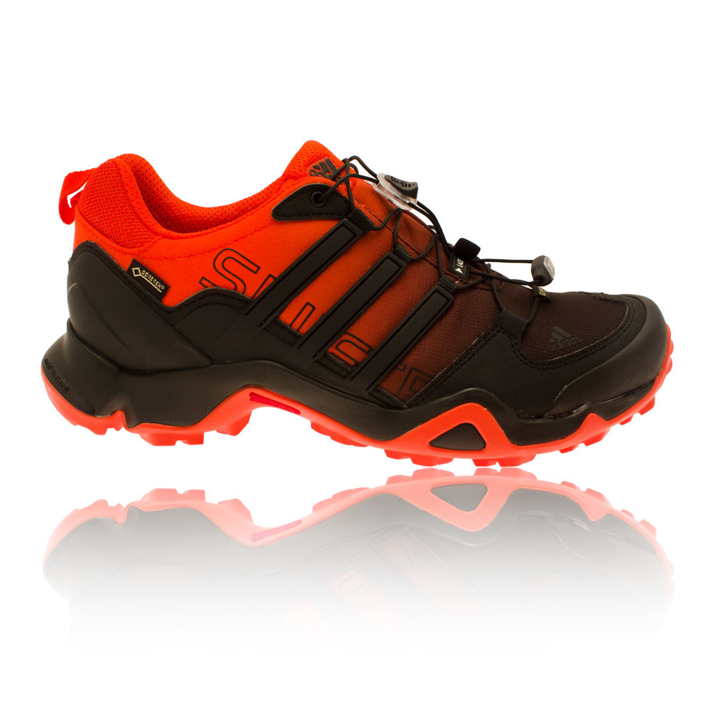 f8162084255df Details about adidas Mens Terrex Swift R GTX Trail Walking Shoes Black  Orange Sports Outdoors