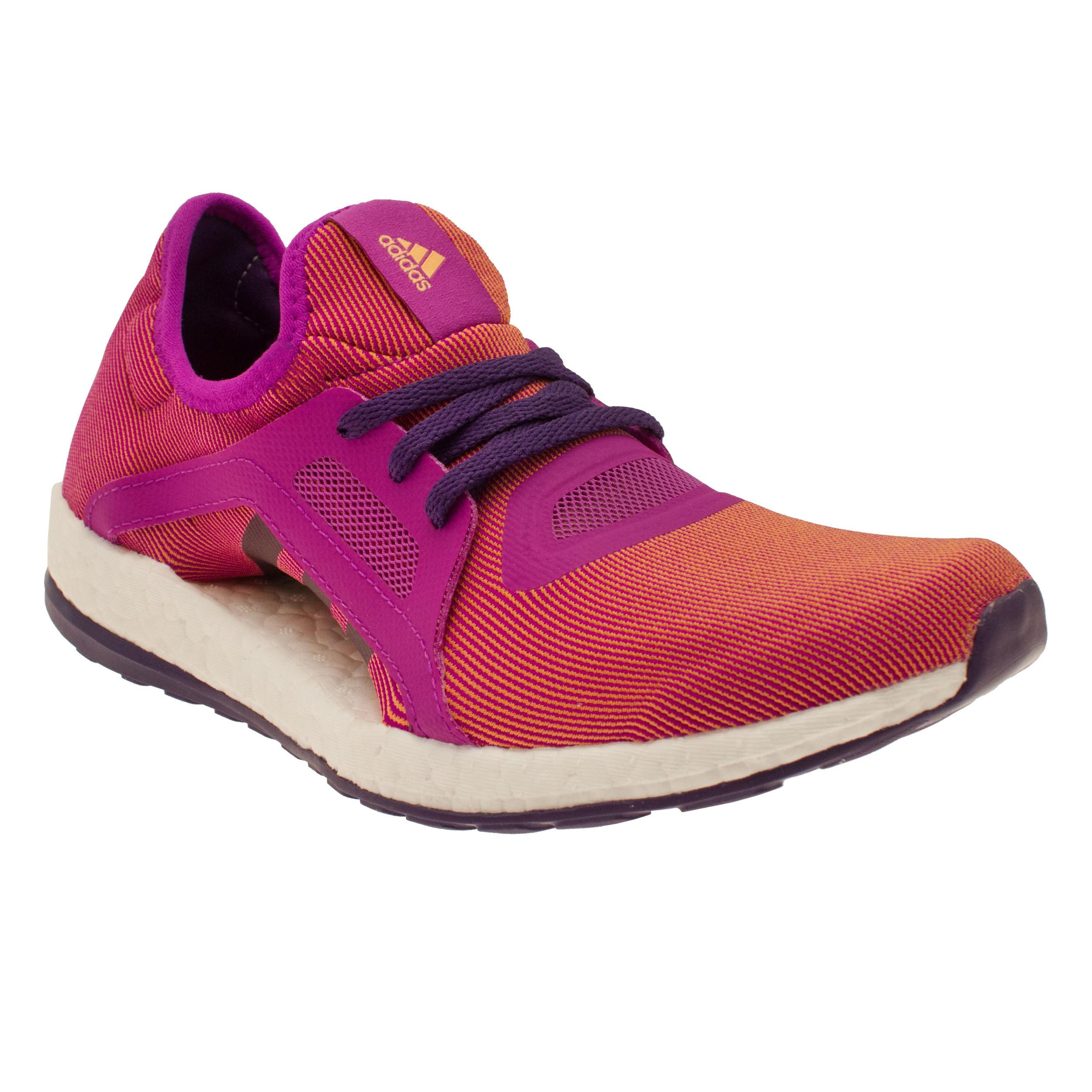 adidas pureboost x womens orange purple sneakers running