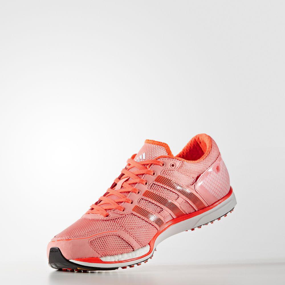 607a2a89b38 Adidas Adizero Takumi Sen 3 Mens Pink Cushioned Running Shoes ...