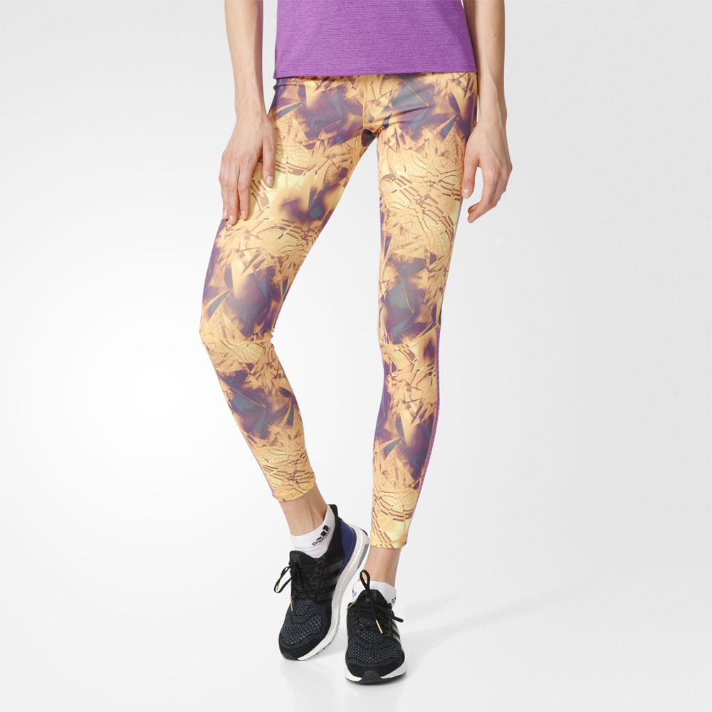 7566adfe7 Details about Adidas Supernova Women s Purple Long Running Training Sports  Tights Bottoms