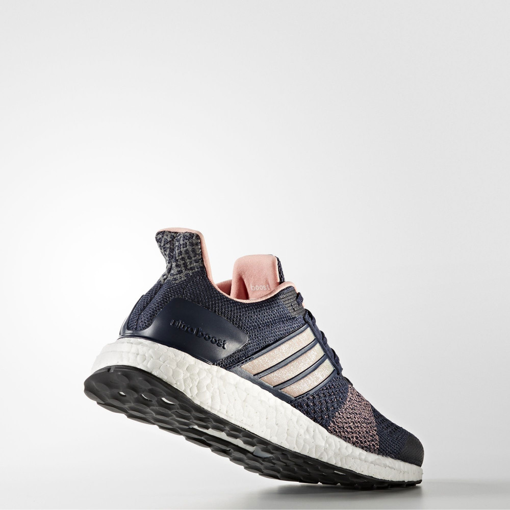 Adidas Ultra Boost ST Womens Blue Support Running Sports Shoes ... 972d6b13a7