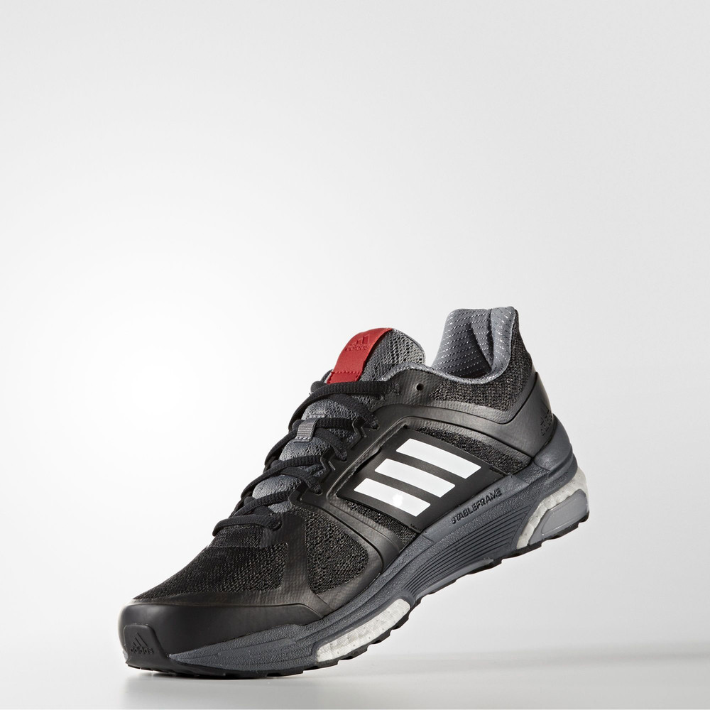 2503ac674d44e Adidas Supernova Sequence 9 Mens Black Support Running Shoes ...