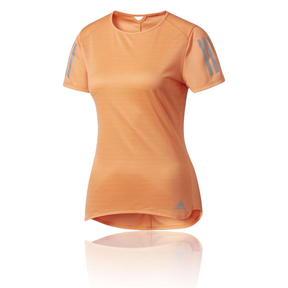 Caricamento dell immagine in corso adidas-Response-Donna -Arancione-Manica-Corta-Girocollo-Corsa- beb34293c737