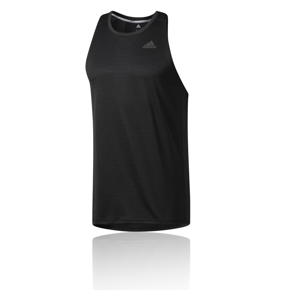 57e92a5d9c014 Image is loading Adidas-Response-Mens-Black-Climalite-Sleeveless-Running- Vest-