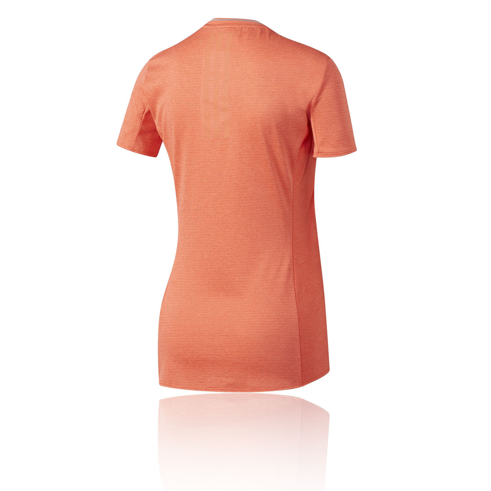 Adidas supernova womens orange short sleeve crew neck for Women s crew t shirts