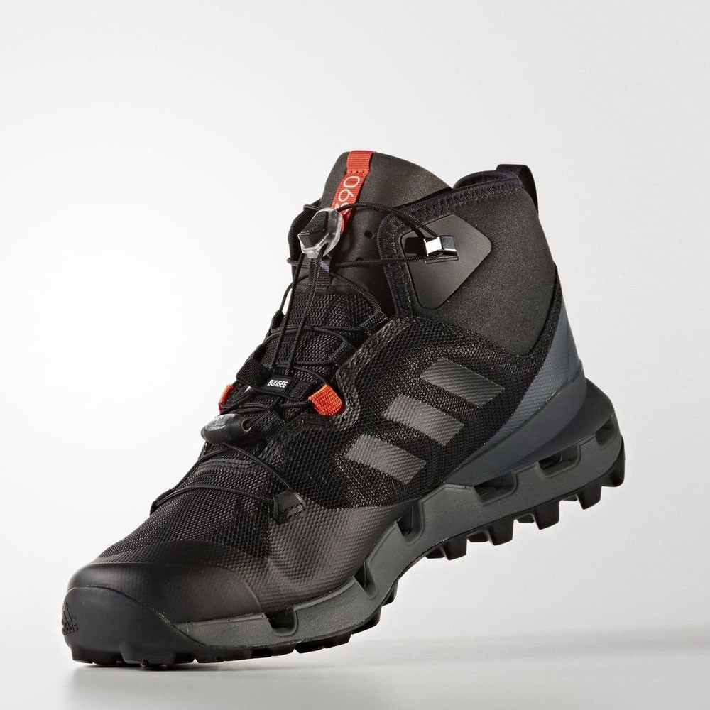 9effa694641f36 Adidas Terrex Fast Mid Mens Black Waterproof Gore Tex Walking Hiking ...
