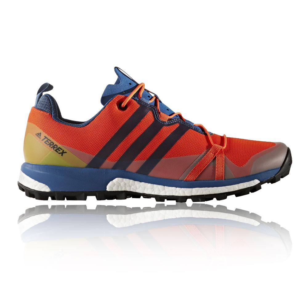 Adidas-Terrex-Agravic-Mens-Orange-Cushioned-Running-Sports-Shoes-Trainers-Pumps
