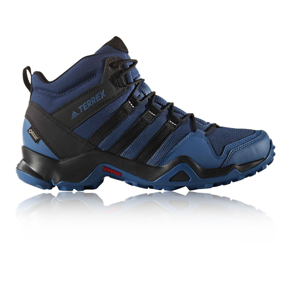 top fashion 2aba6 52909 Details about Adidas Terrex AX2R Mid Mens Blue Black Waterproof Gore Tex  Trekking Shoes