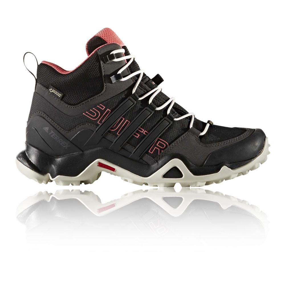 Szczegóły o Adidas Terrex Swift R Mid Womens Black Gore Tex Waterproof Walking Shoes