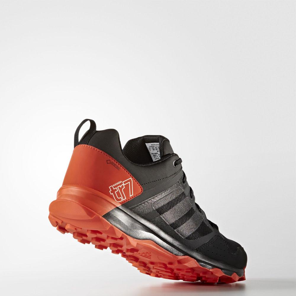 Adidas Kanadia 7 Mens Orange Black Gore Tex Sneakers