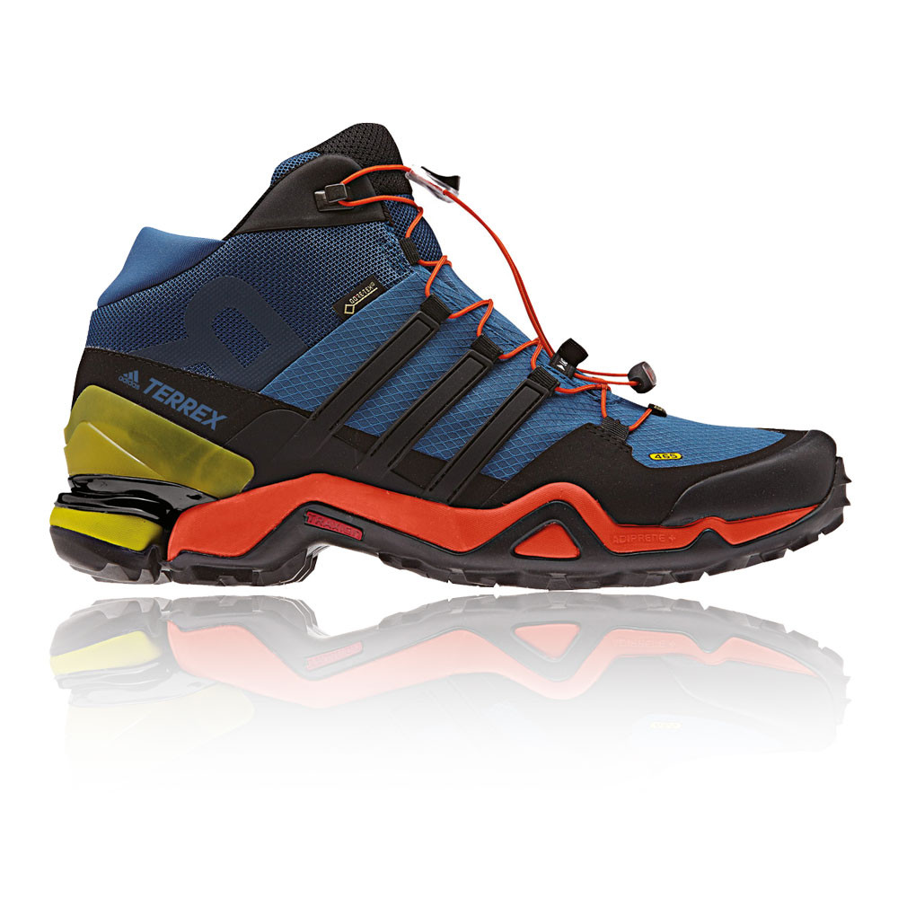 Details about Adidas Terrex Fast R Mid Mens Blue Gore Tex Waterproof  Walking Boots Shoes e729b16e7