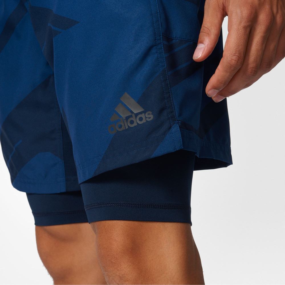 adidas speed climacool 2 in 1 gfx herren trainingshose kurze hose shorts blau ebay. Black Bedroom Furniture Sets. Home Design Ideas