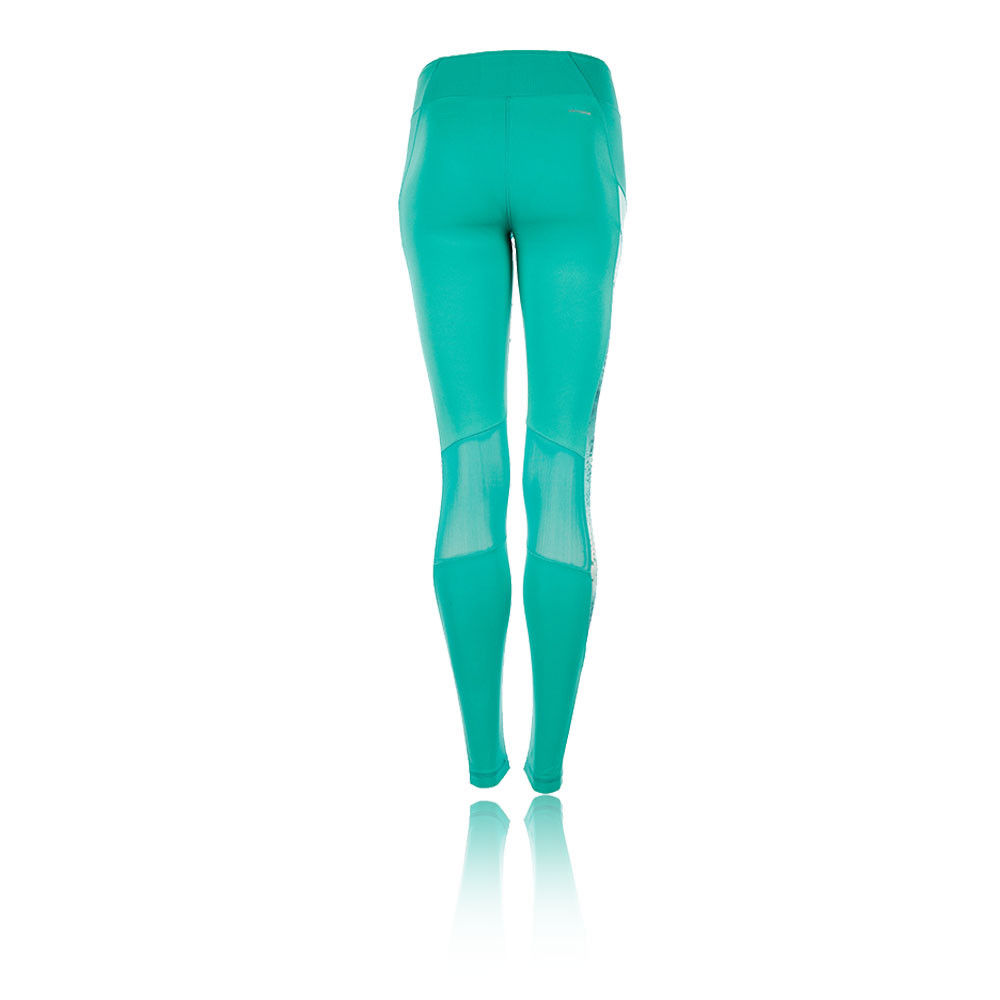 b78acfffe3276 Adidas Ultimate Womens Green Climalite Running Long Tights Bottoms ...