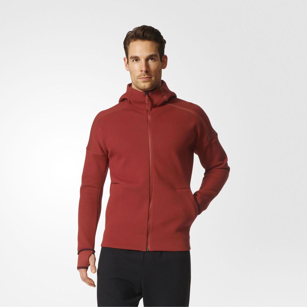 adidas zne mens red hoody long sleeve full zip hoodie. Black Bedroom Furniture Sets. Home Design Ideas