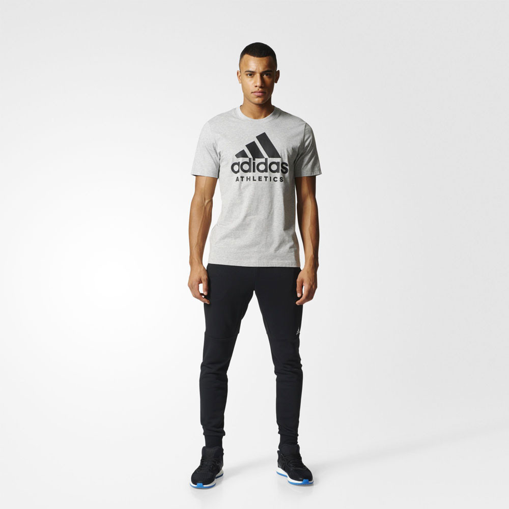 adidas sport id branded running t shirt ss17. Black Bedroom Furniture Sets. Home Design Ideas