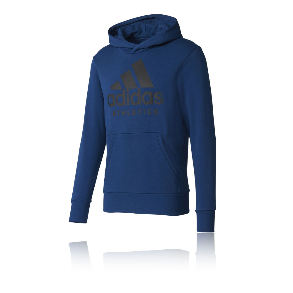adidas sport id branded pullover running hoodie ss17. Black Bedroom Furniture Sets. Home Design Ideas