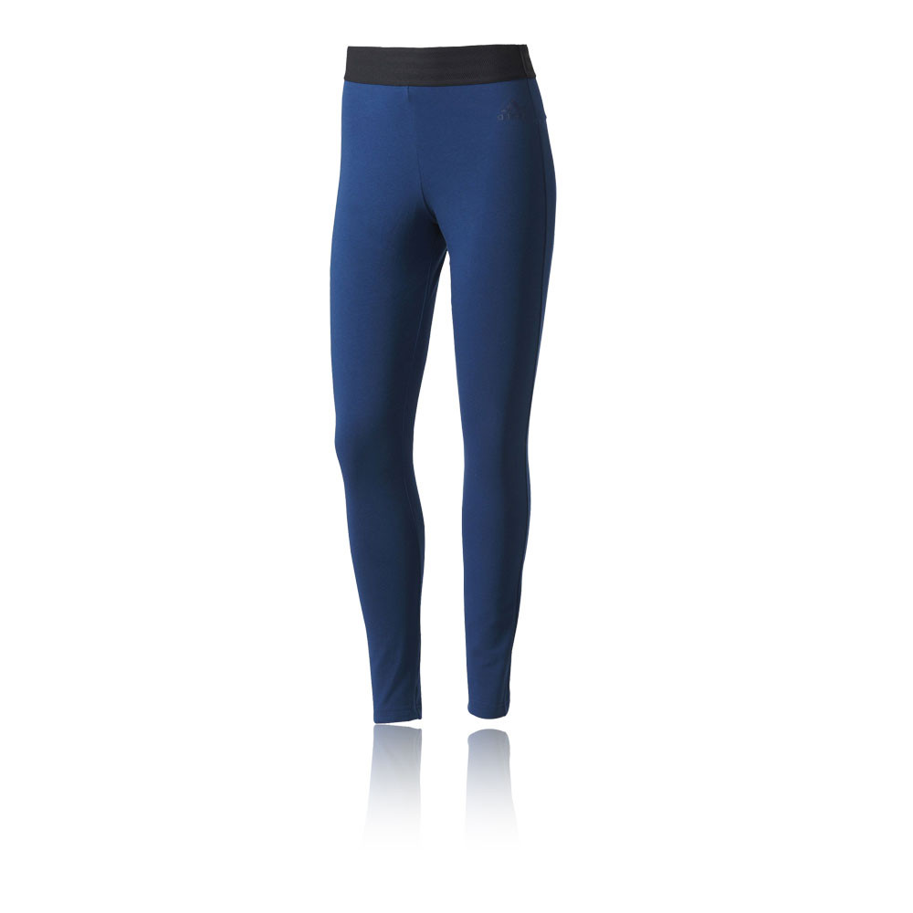 adidas sport id womens blue running training long tights bottoms pants ebay. Black Bedroom Furniture Sets. Home Design Ideas