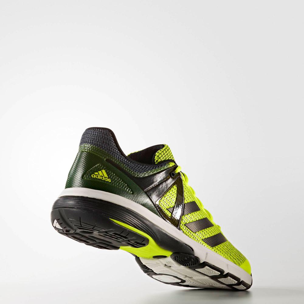Szczegóły o Adidas Court Stabil 13 Mens Yellow Black Handball Indoor Sports Shoes Trainers