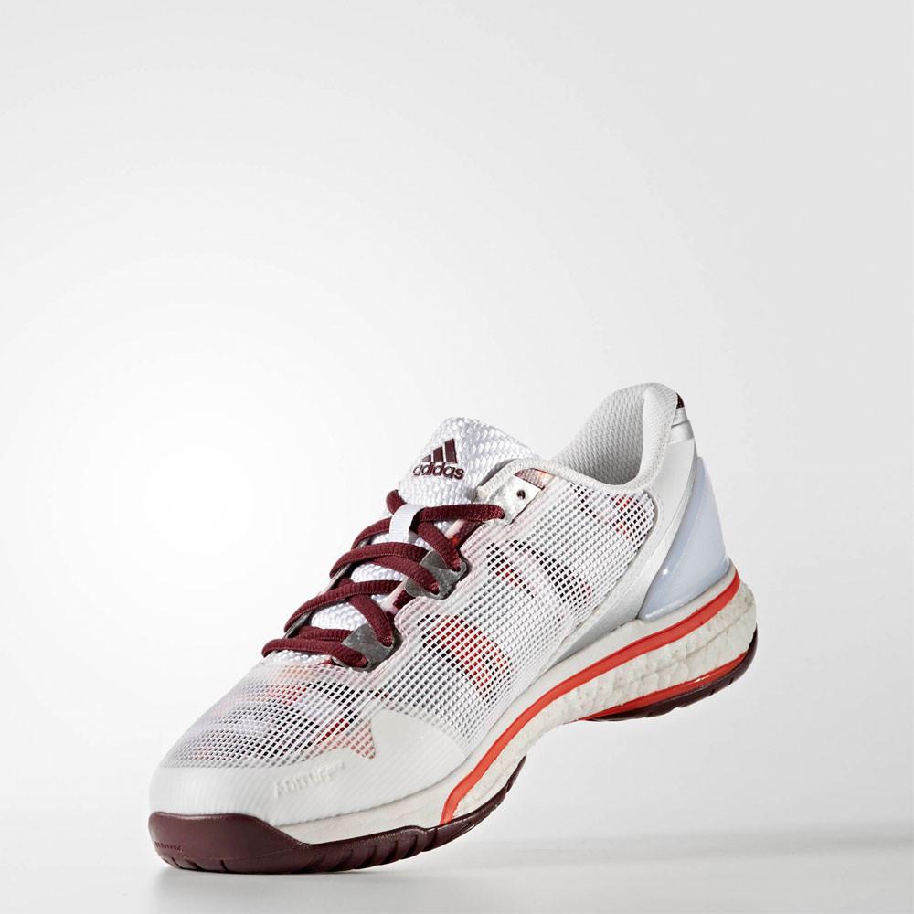 adidas stabil boost 20y chaussures femme blanc handball indoor chaussures de sport baskets ebay. Black Bedroom Furniture Sets. Home Design Ideas