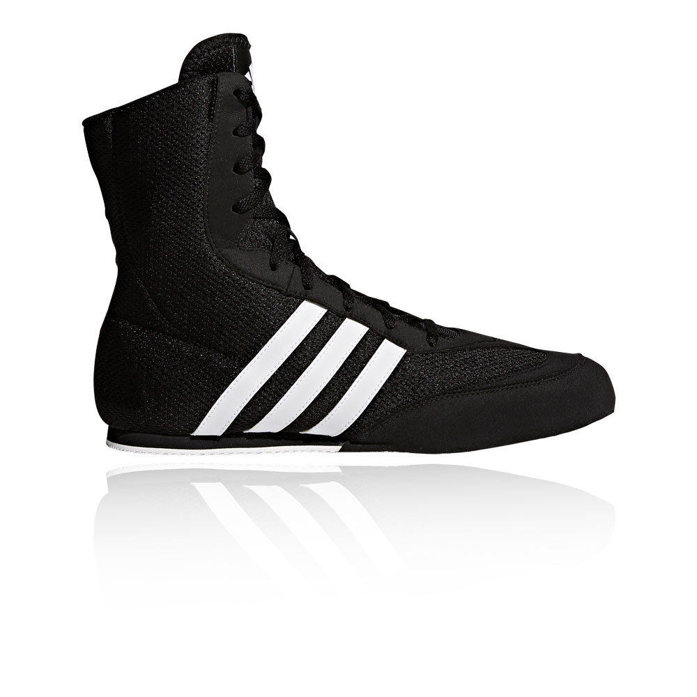 Adidas Box Hog Mens Black Boxing Sports Shoes Trainers Pumps Black