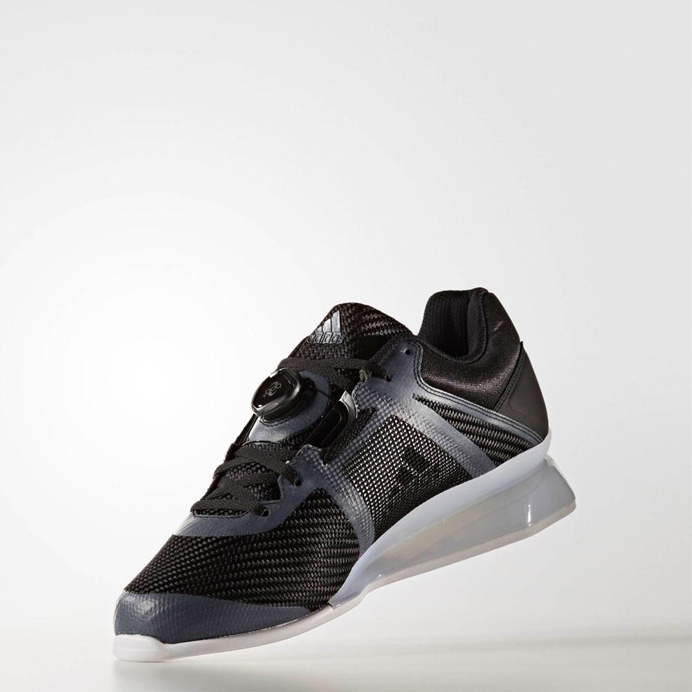 263b72db6fa8 Adidas Leistung 16 II Mens Black Weightlifting Sports Shoes Trainers ...