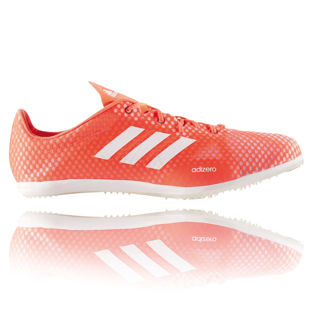 hot sale online 6cffb b44eb Adidas Adizero Ambition 4 Mens Orange Track Field Spikes Shoes Pumps  Trainers