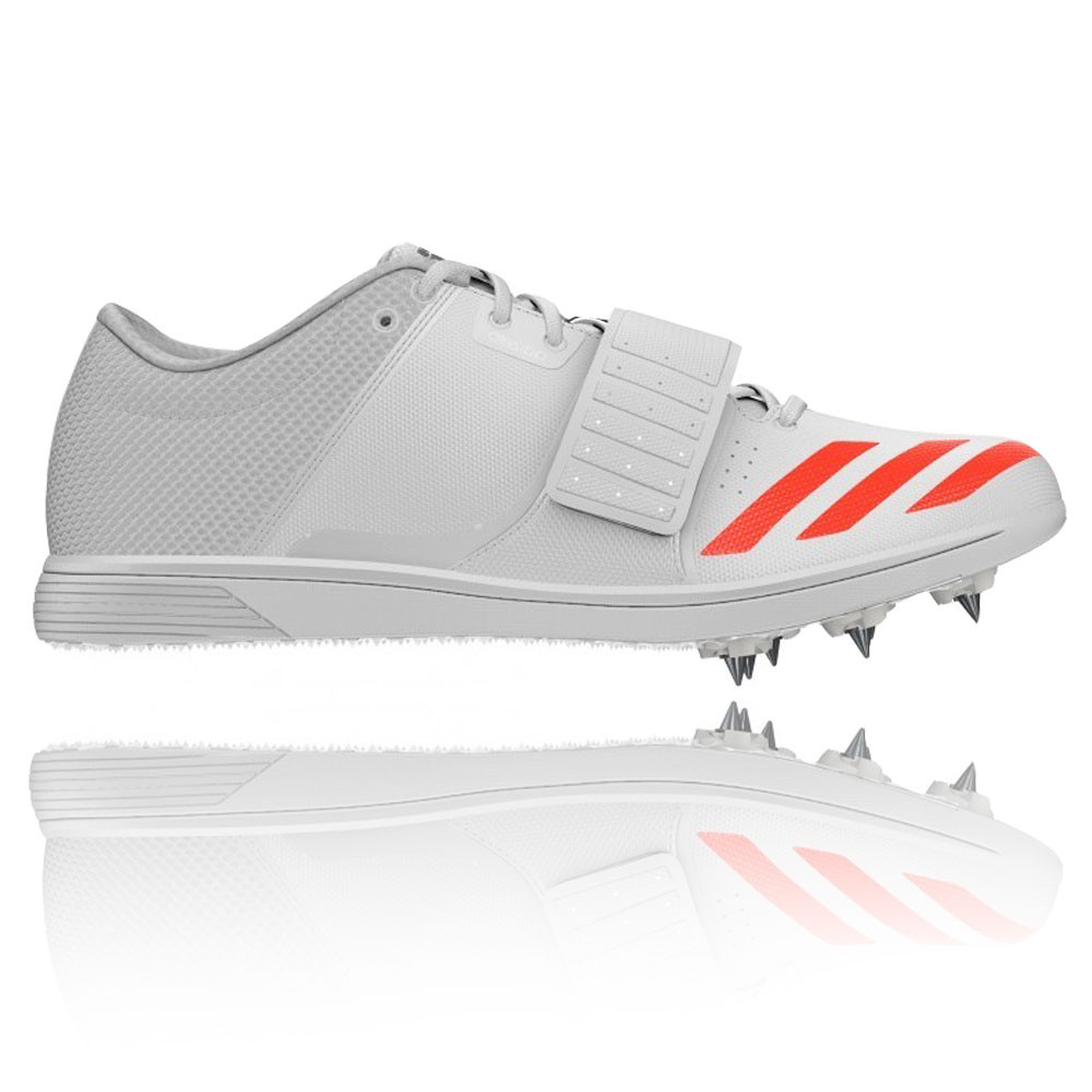 buy online ff2dd bd00f Details about Adidas Adizero Triple Jump Pole Mens White Orange Track Field  Spikes Shoes