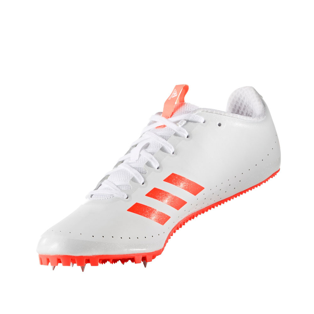 new concept 6907e fa95c Adidas-Sprintstar-Mens-White-Athletic-Field-Running-Spikes-