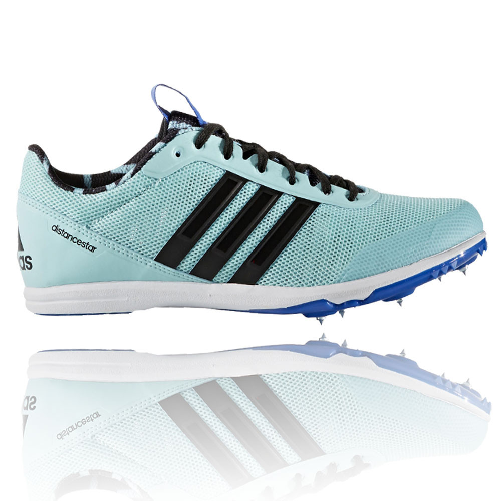 separation shoes 9baf6 59447 Details about Adidas Distancestar Womens Green Blue Running Track Field  Spikes Shoes Trainers