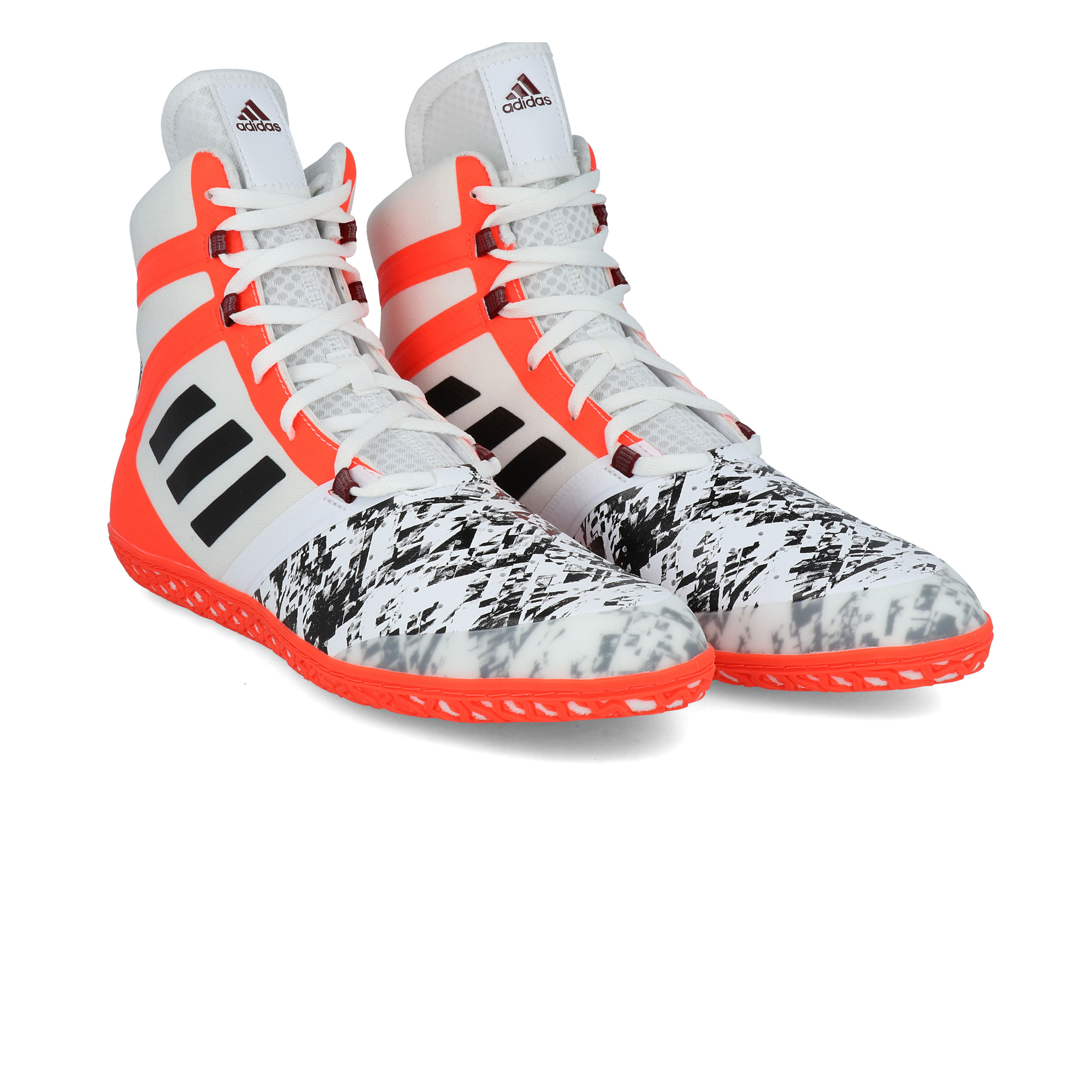 orange and black asics wrestling shoes