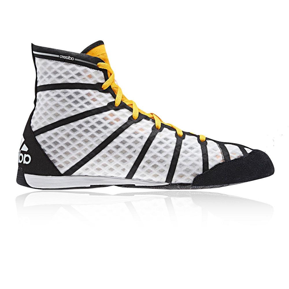 c1405c9323 Details about Adidas Adizero Mens White Black Boxing Sports Shoes Trainers  Pumps