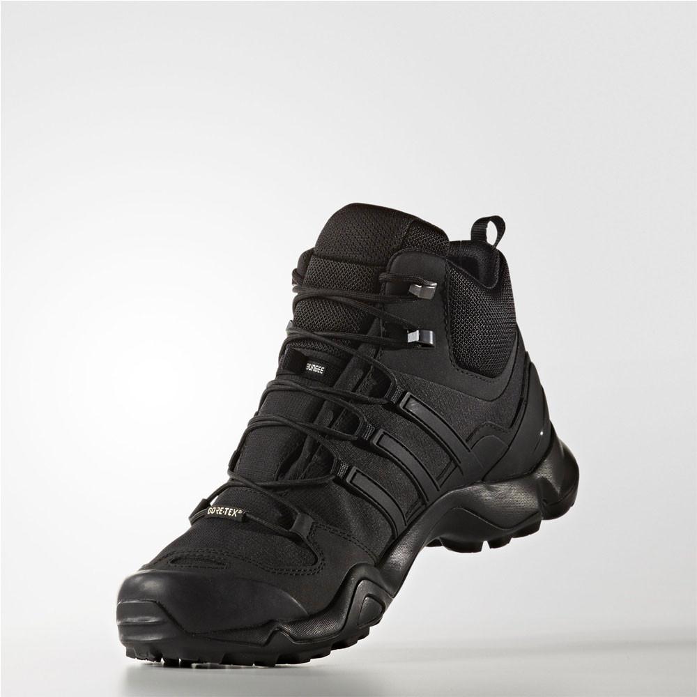 online store 81b90 4420b Adidas Terrex Swift R Mid Mens Black Gore Tex Hiking Walking Boots Shoes