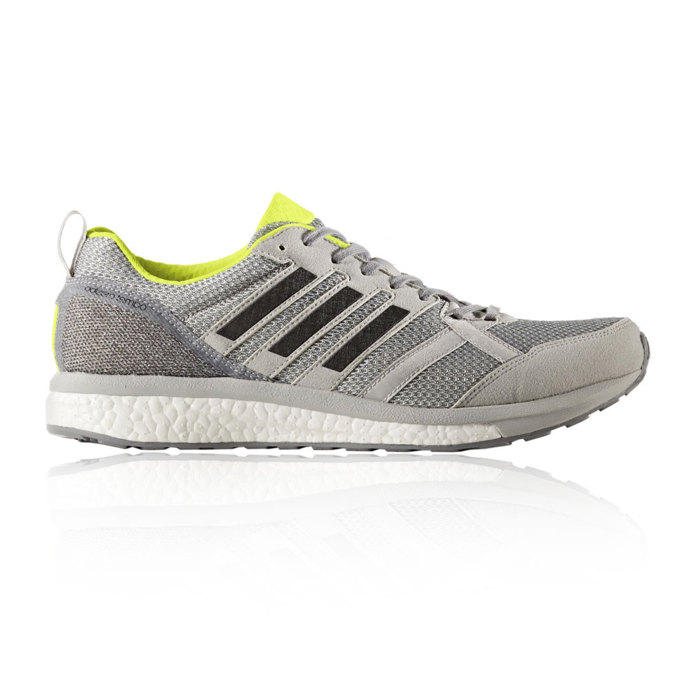 buy popular 61aee e028b Image is loading Adidas-Adizero-Tempo-9-Mens-Grey-Cushioned-Running-