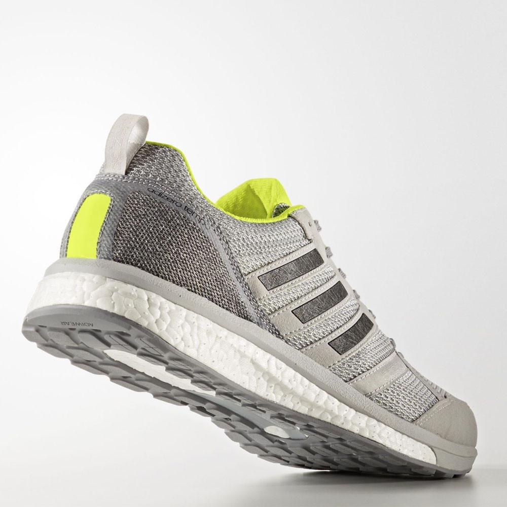 d44b382c2af Adidas Adizero Tempo 9 Mens Grey Cushioned Running Sports Shoes ...