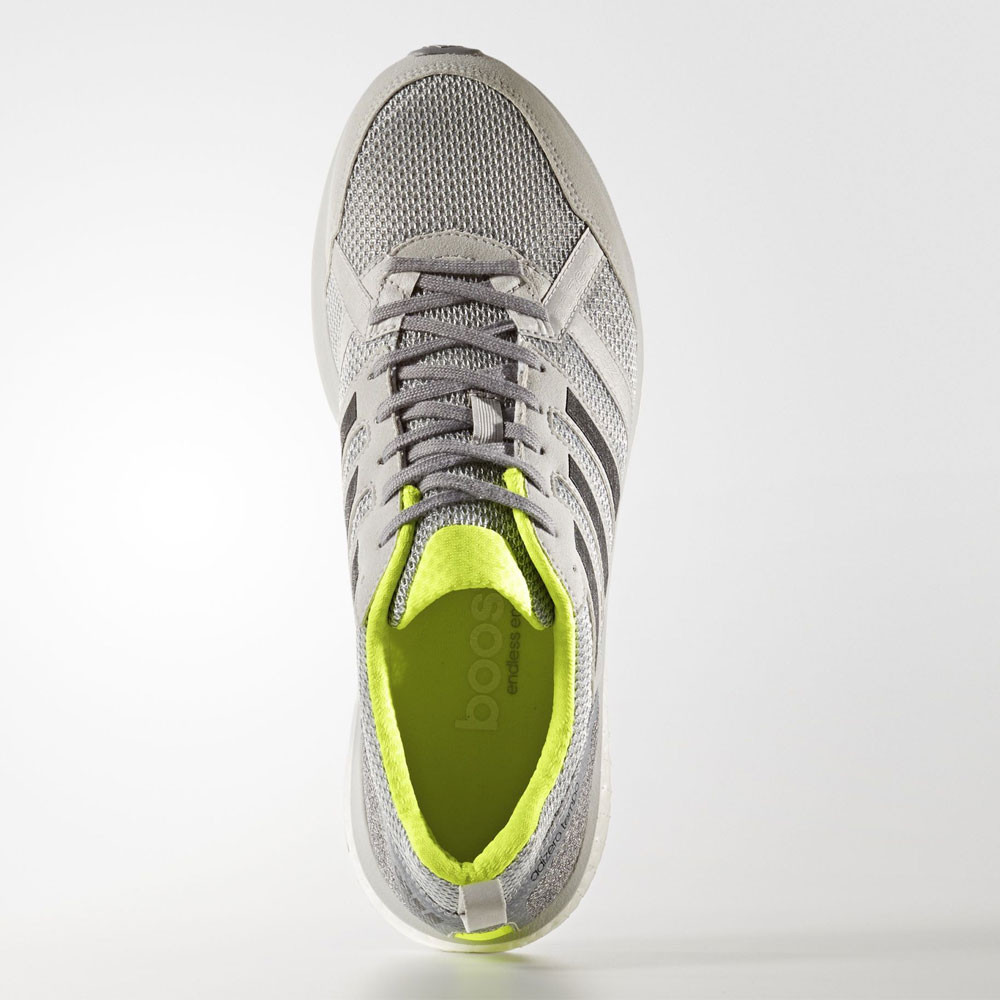 new arrival f48b1 b8799 Adidas-Adizero-Tempo-9-Mens-Grey-Cushioned-Running-